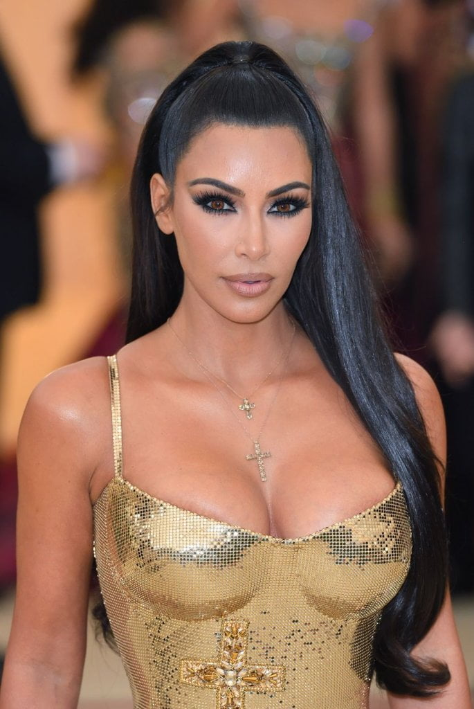 Kim Kardashians Super Sleek Pony