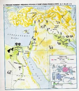 mapa Mezopotamie