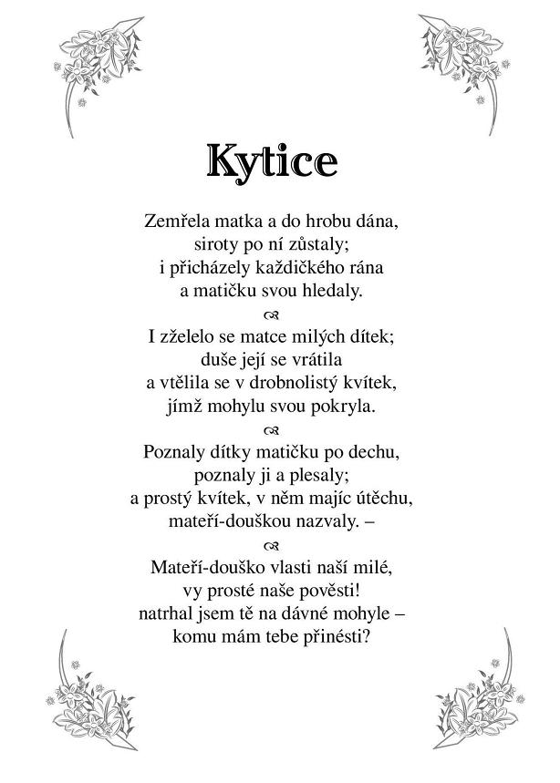 Kytice báseň