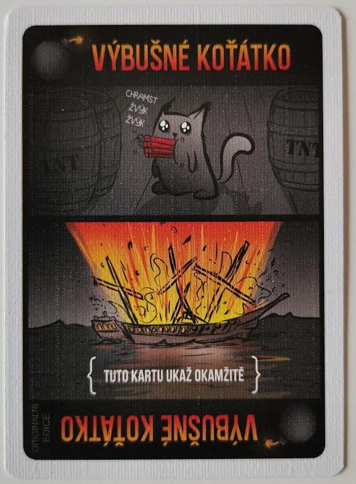 Herní karta výbušné koťátko