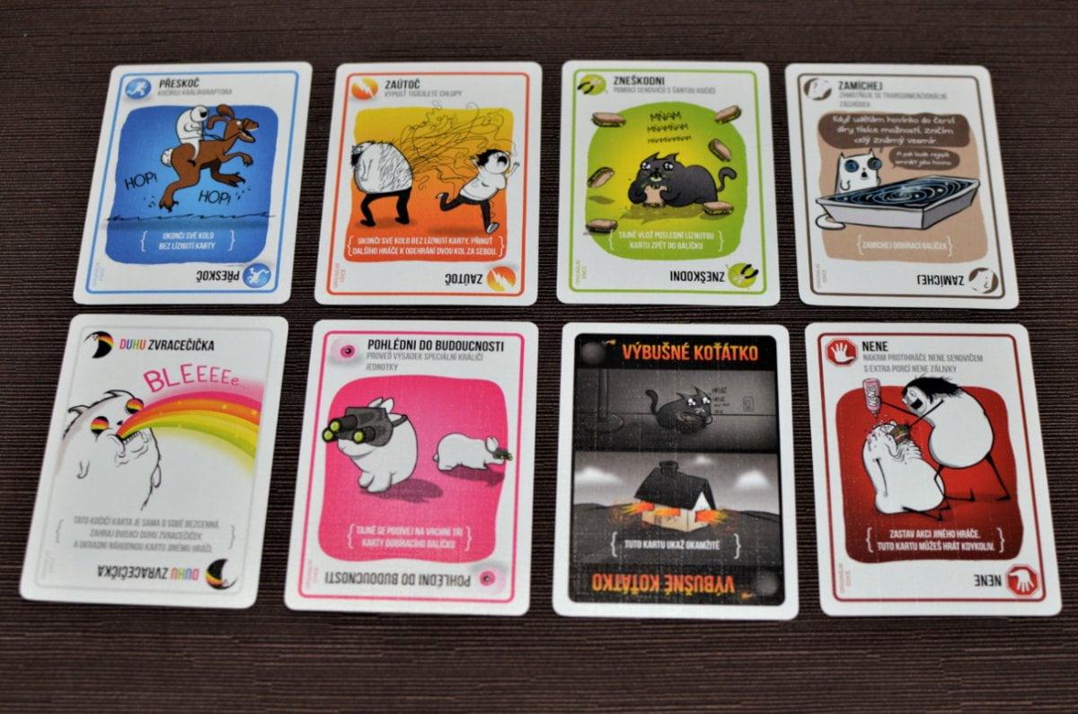 Karty deskové hry výbušná koťátka