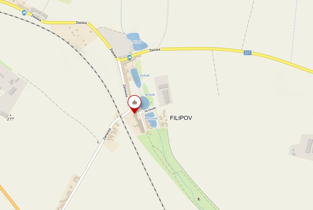 mapa zamek filipov