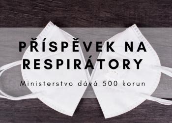 příspěvek na respirátory