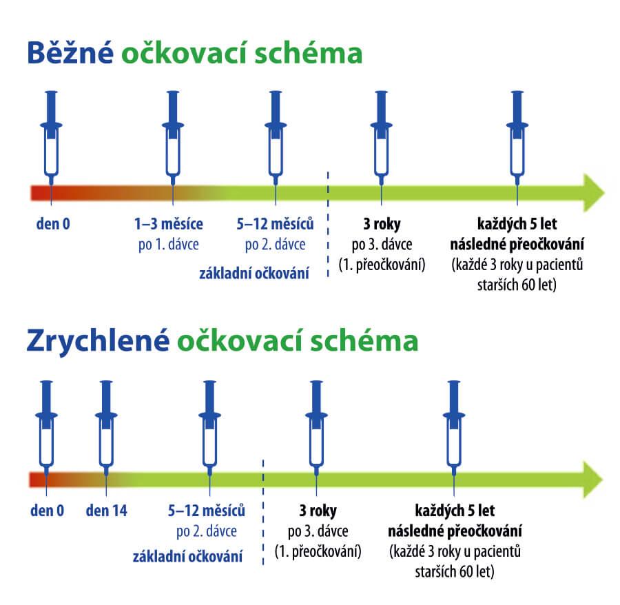 FSME IMMUN očkovací schéma