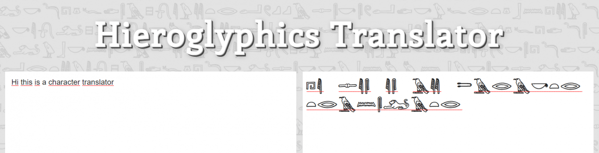 Hieroglyphics Translator