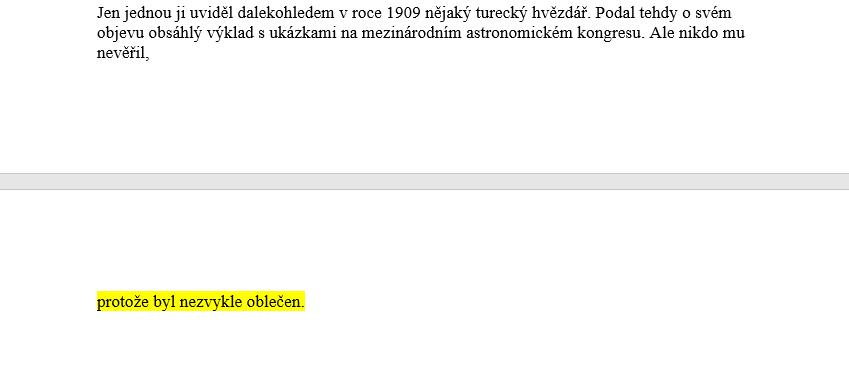 editace odstavce