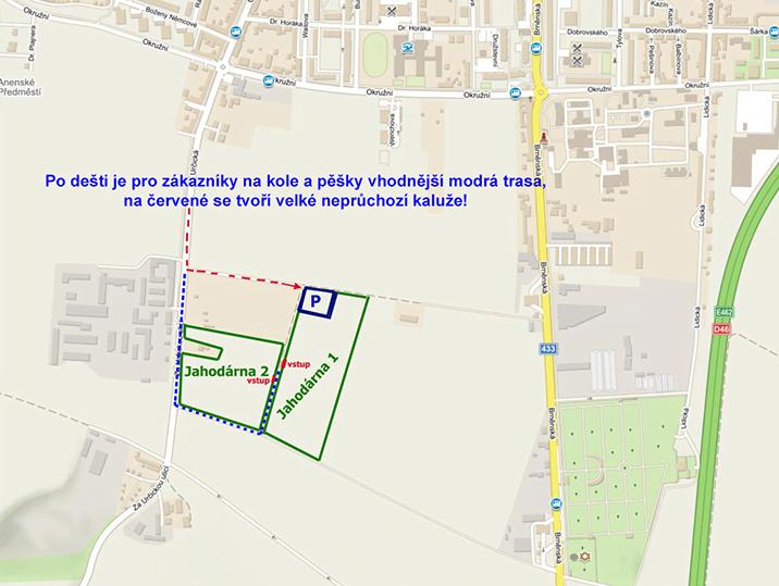mapa Samosber jahod Prostejov
