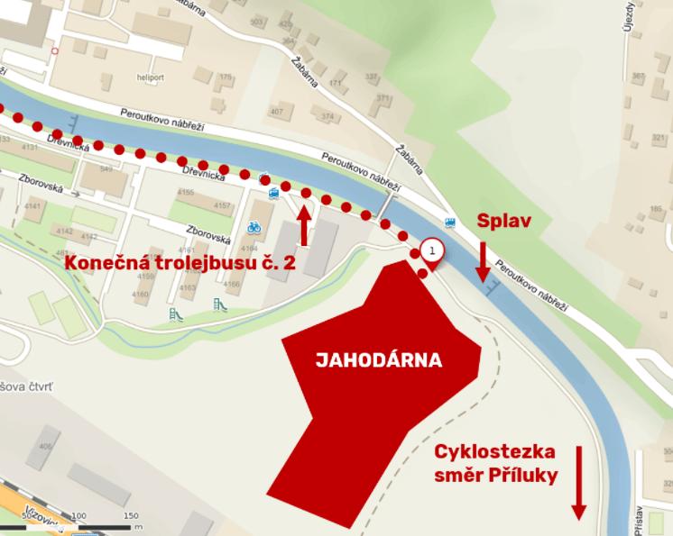 mapa jahodarna zlin