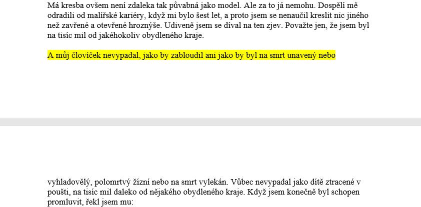 ukazka formatovani odstavce