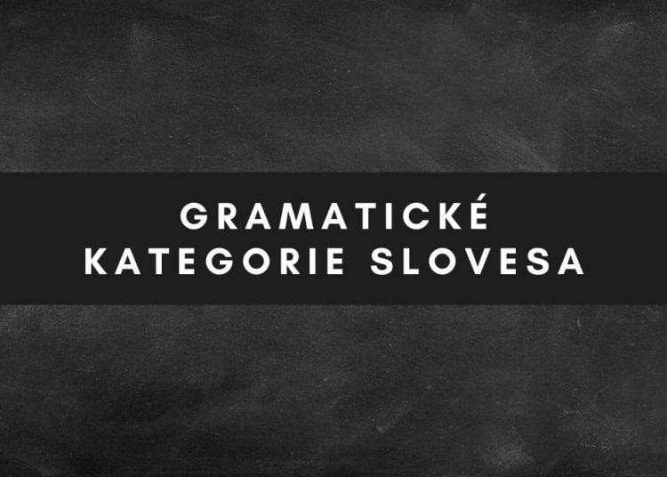 Gramatické kategorie slovesa