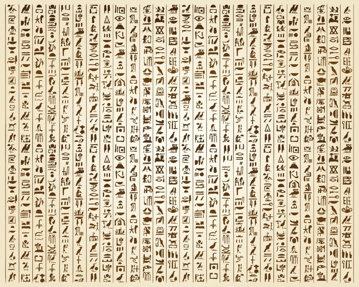 Symboly egyptské abecedy