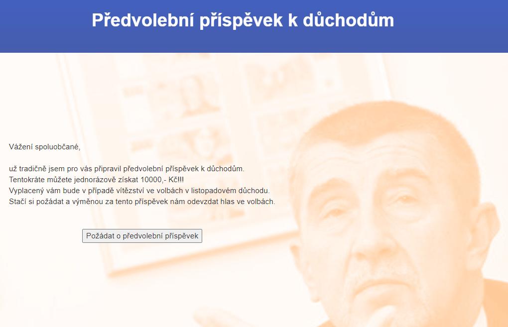 web predvolebniprispevek.cz